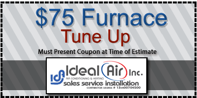 $75 furnace tune up coupon